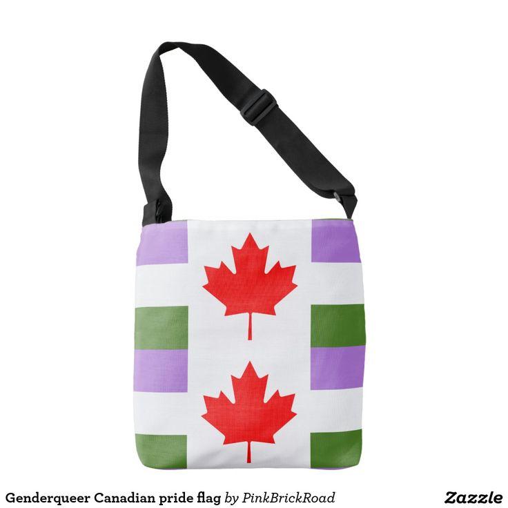 Genderqueer Canadian pride flag Tote Bag