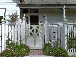 Wooden Picket Fence and Gate