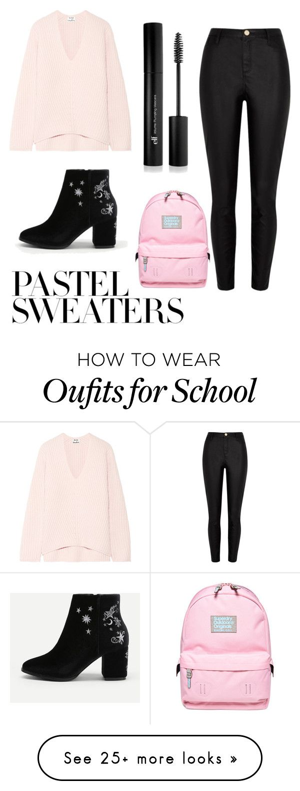 """""""School Look"""" by karla-szoke on Polyvore featuring Acne Studios, Superdry and Forever 21"""