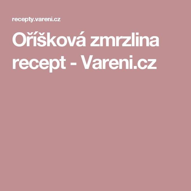 Oříšková zmrzlina recept - Vareni.cz