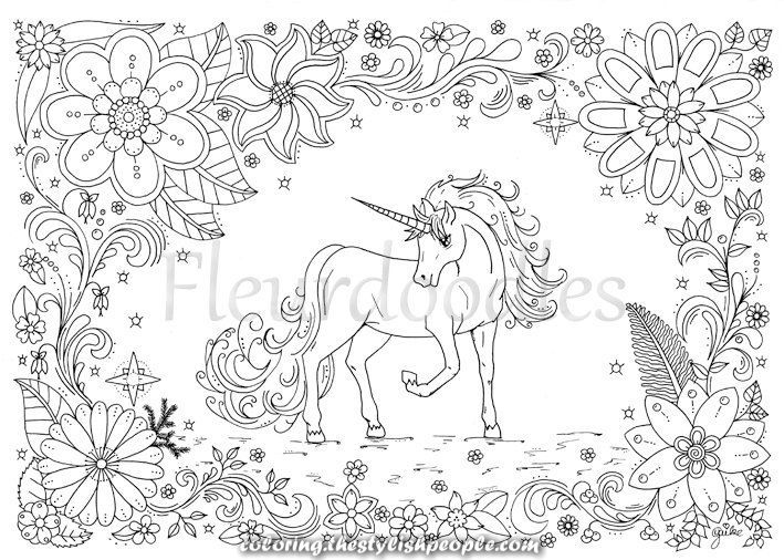 Beautiful Coloring Web Page Unicorn Horse On The Spot Obtain Distinctive Hand Drawn Art Unicorn Coloring Pages Horse Coloring Pages Coloring Pages