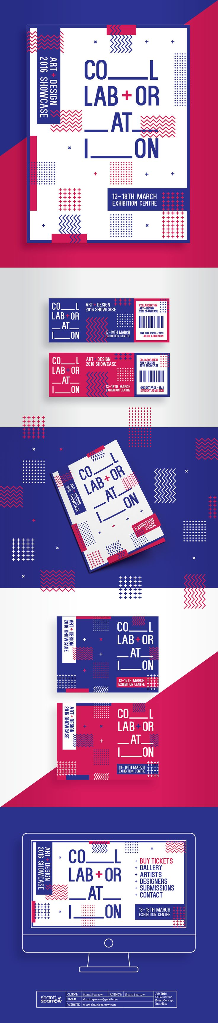 Design by Shanti Sparrow www.shantisparrow.com Project Name: Collaboration Branding #Design #graphicdesign #illustration #layout #typography #branding #graphics #identity #graphic #designinspiration #inspiration #posterdesign #grid #graphicelements #brochure #poster #brochuredesign #website #tickets #swiss