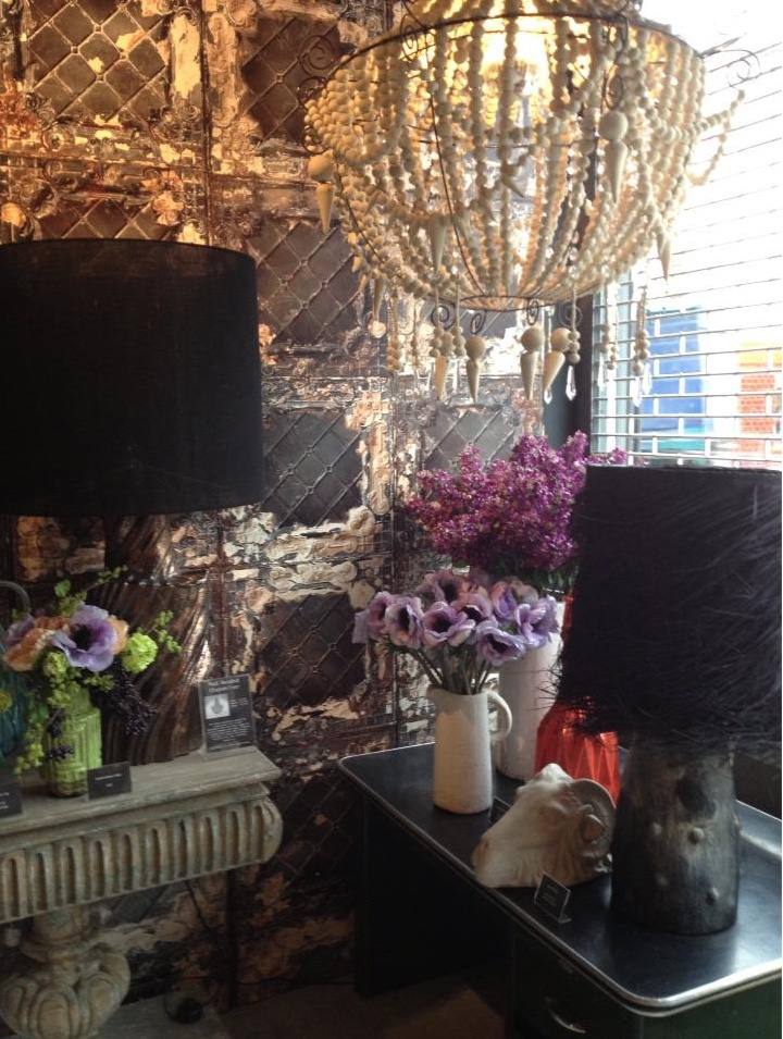 Chandeliers crafted from Mud and super sized lamps at my store, Abigail Ahern in Islington