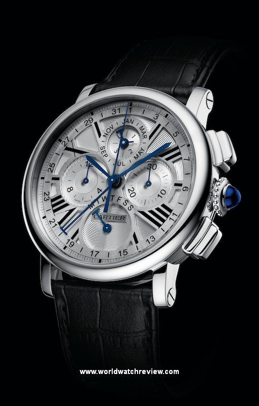 Cartier Rotonde de Cartier Perpetual Calendar Chronograph in white gold