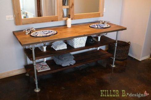 Who Knew That A Diy Industrial Style Vanity Could Look So Amazing