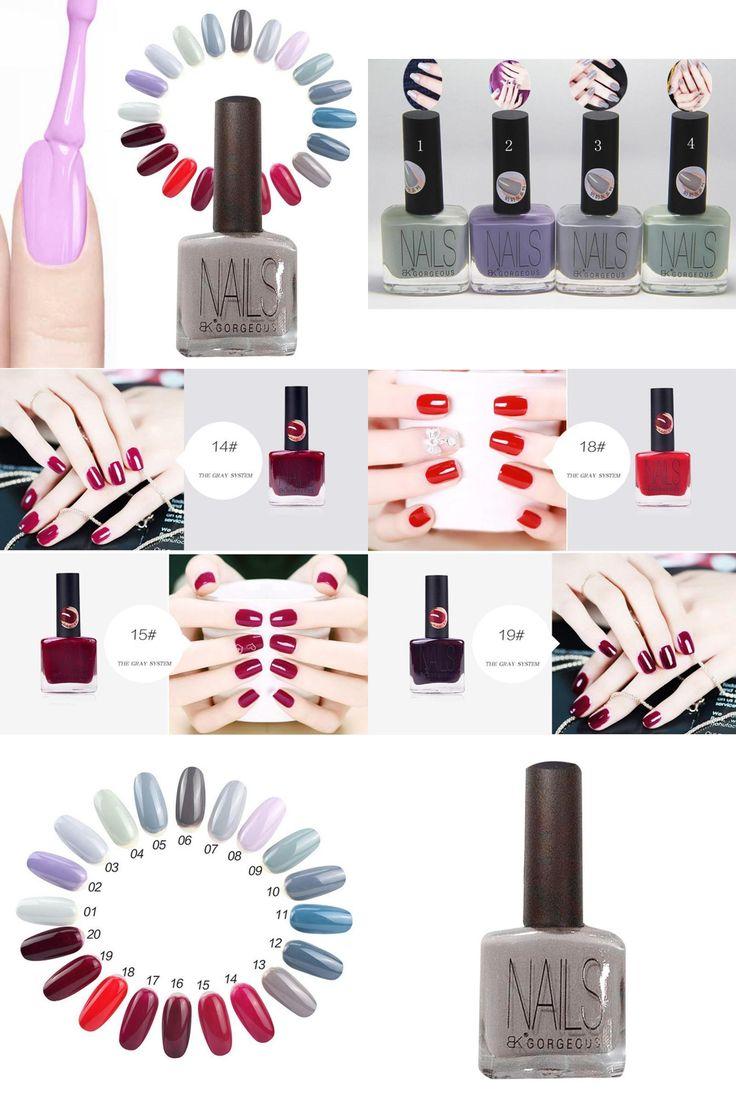 [Visit to Buy] Nail art polish senior gray foolish red wine series nail polish milk gray paint light quick dry Nail polish A5 #Advertisement