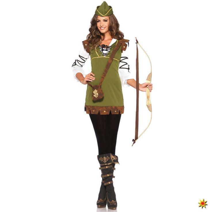 Kostüm Robin Hood Honey Damen Fasching Kleid grün Legende Film Filmfigur König der Diebe Wald Karneval S/M, M/L kaufen