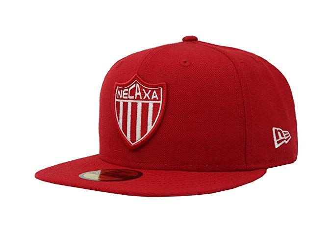70371008 Men s Club Necaxa Soccer Liga MX Fitted Red Hat Cap Review ... 86abe8d9dace