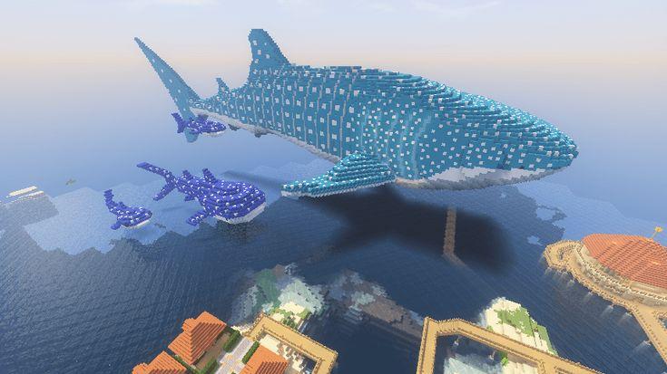 さらに巨大なジンベエザメが来ました【マインクラフト】