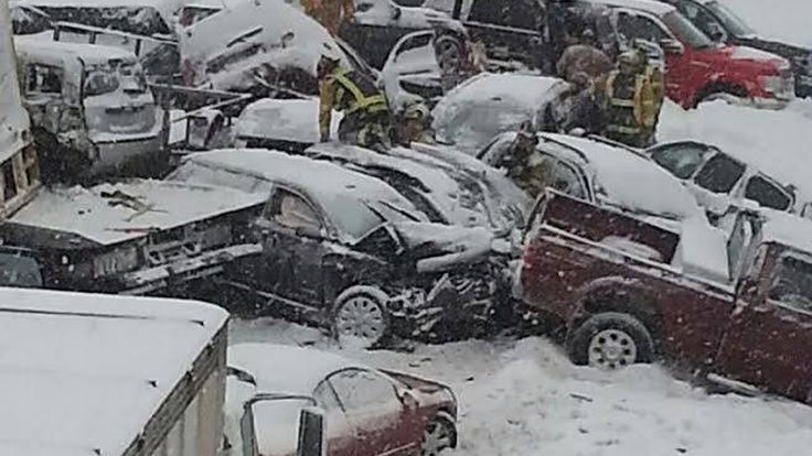40 Vehicles Collide in Massive PileUp on Interstate 81