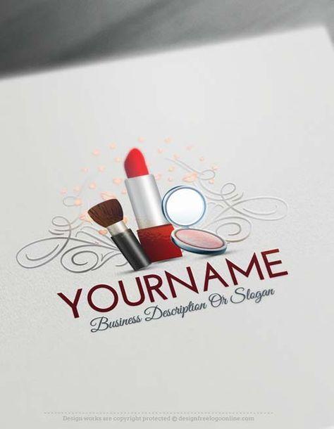 Free Logo creator – Makeup artist logo design