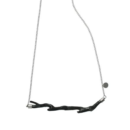 """Oily Bird"" branch necklace. #Branch jewelry."