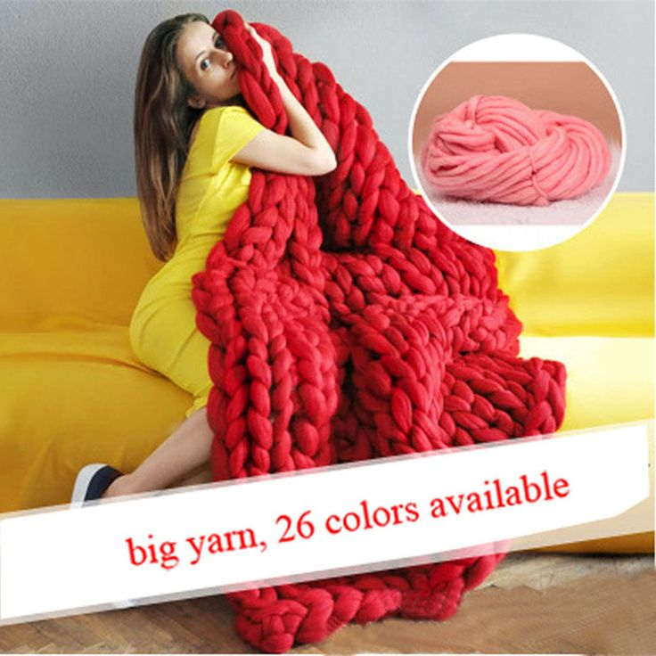 Cheap yarn merino, Buy Quality blanket dog directly from China blanket sleeve Suppliers: Hand Knitting Blanket Hats Super Thick Merino Wool Chunky Yarn Felt Wool Roving Bulky Yarn Winter Warm 250g/LotDescri
