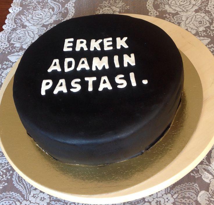 Kerem'e yaptığım doğum günü pastası...