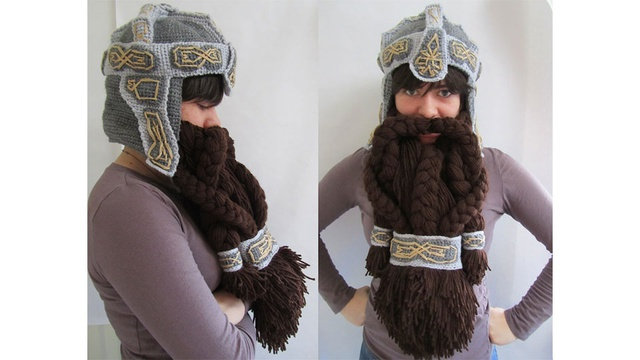 WOW! I want to know how long it took this person! of course.. really the only crochet part is the gray. The beard is just yarn. Pretty impressive.