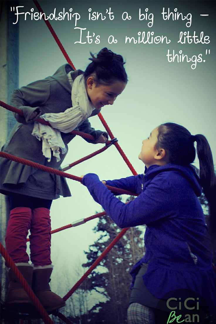 Friendship isn't a big thing - it's a million little things! | Cici Bean | www.letyourheartbeyourguide.blogspot.ca #friendship #quotes