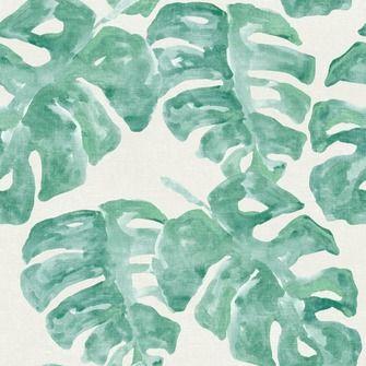 love this wallpaper! design by Eijffinger® vliesbehang blad tropisch groen | Behang | Behang | KARWEI