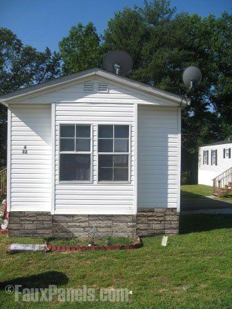 Our mobile home skirting panels can be installed in no time.