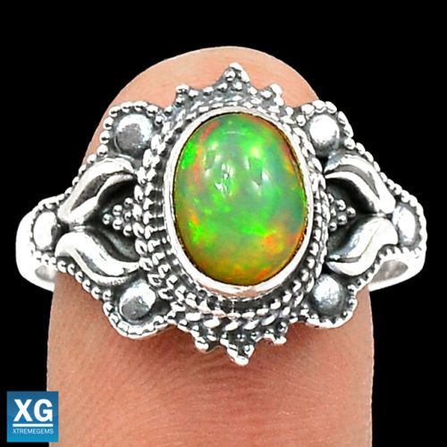 Natural-Ethiopian-Opal-925-Sterling-Silver-Ring-Jewelry-s-9-5-SR84936