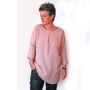 Eine Bluse, die schnell genäht ist wie ein Shirt? Blusenshirt Kim_B machts möglich! | b-patternsb-patterns
