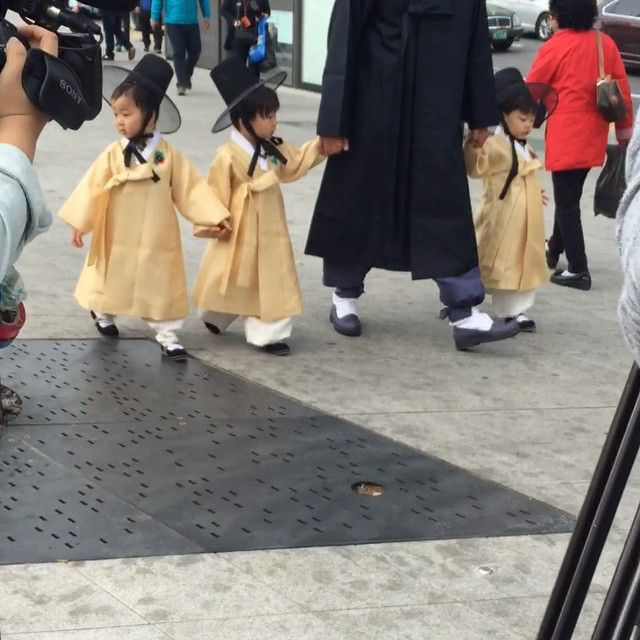 Daehan, Minguk, Manse and appa spotted filming for The Return of Superman
