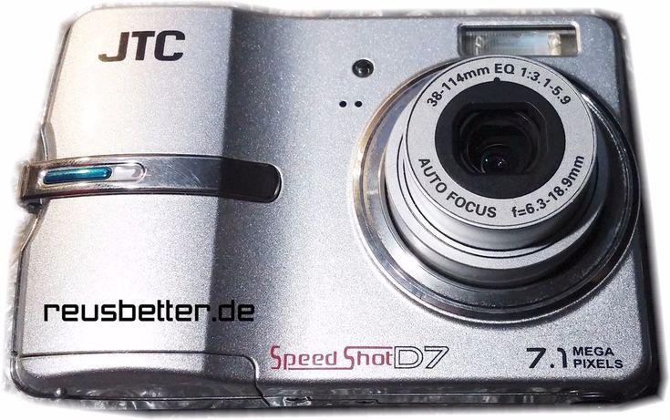 JTC Digitalkamera SpeedShot D7 | 7.1 MP | 2,5 Zoll | Silber | SD Karte