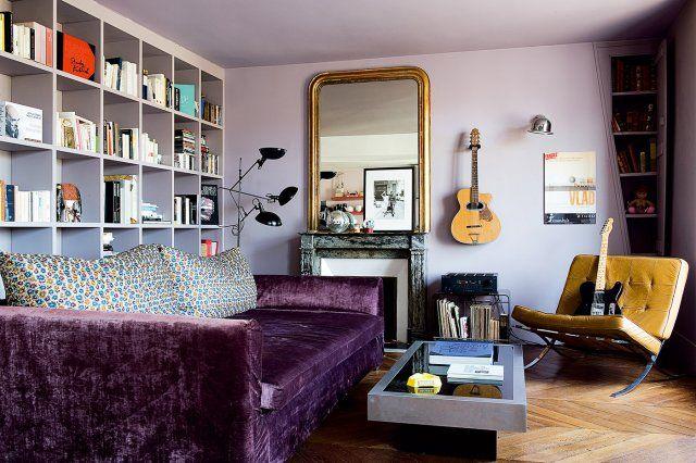 Un petit salon qui mise sur le confort / comfort and living room - Marie Claire Maison