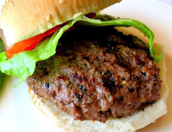 These moist, flavorful backyard burgers are as sophisticated as they are tasty, thanks to the inclusion of blue cheese and dry sherry. To do these burgers justice, buy buns from a bakery, not the kind packaged in plastic! For 8 burgers: 2 pounds lean ground beef (preferably with no more than 7 percent fat) 1 cup minced onion 2 cloves garlic, peeled and minced 2 small-to-medium eggs 1/2 cup fine dried breadcrumbs 2 tablespoons cooking Sherry 1 teaspoon salt 1 teaspoon freshly ground black ...