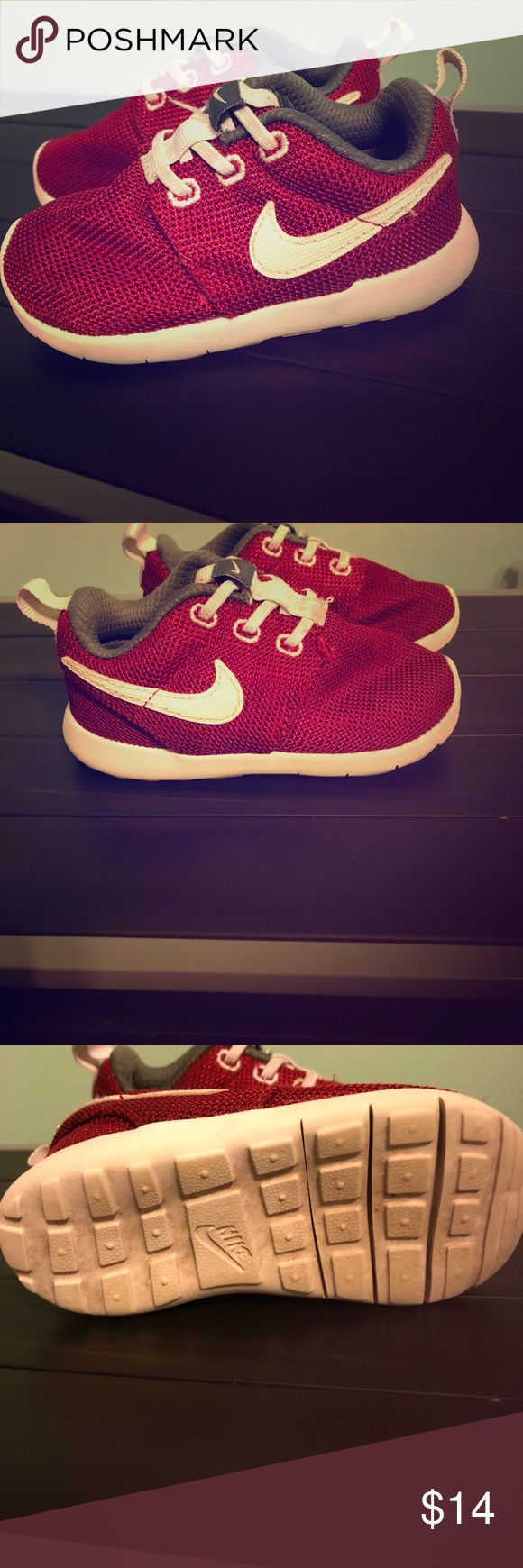 Toddler Nike shoes Toddler red Nike shoes. Size 7 Nike Shoes Sneakers