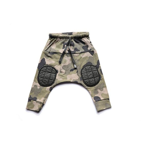 Sale  Kids harem pants  Army pants  Knee boys by TuliBertKids, $29.00