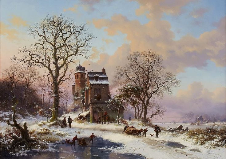 Frederik Marinus Kruseman - Winterlandschap (6)