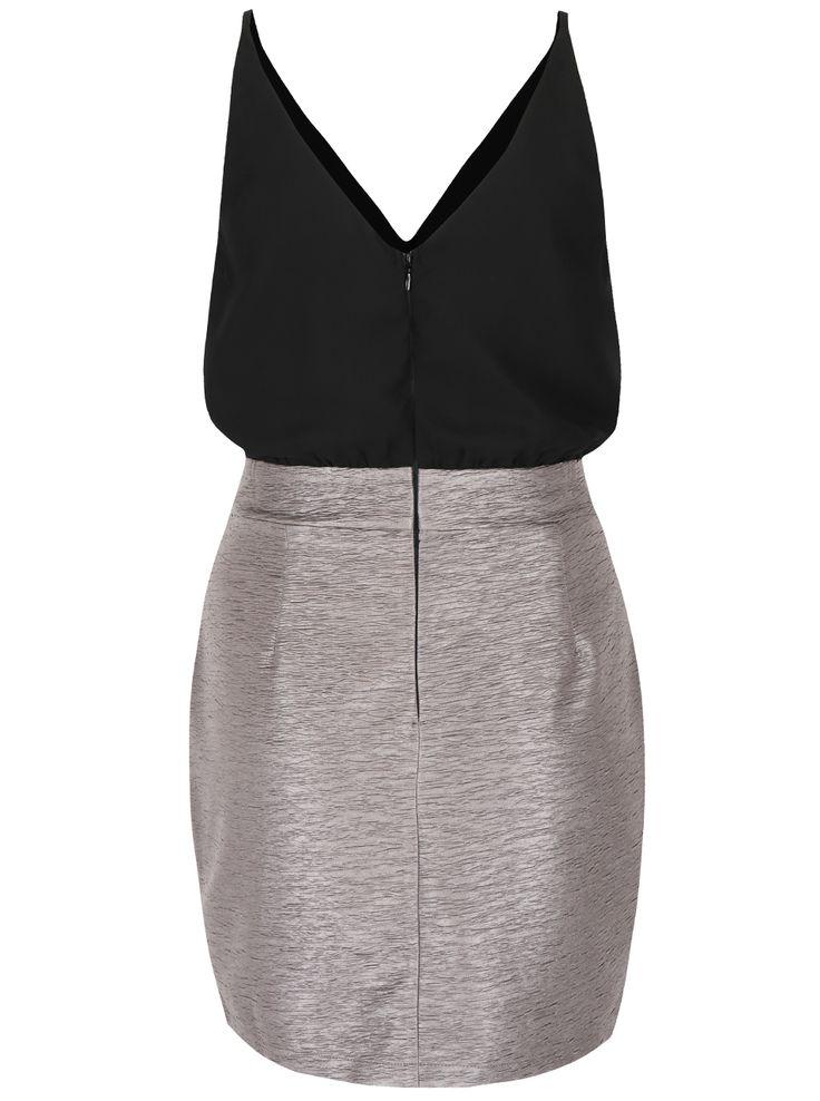 Černo-šedé šaty AX Paris