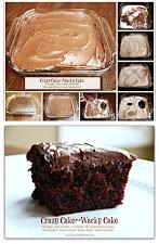 Top Recipe ~ Crazy Cake  (also known as Wacky Cake & Depression Cake)