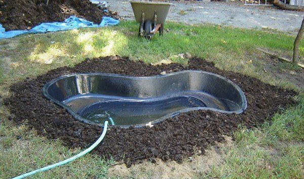 bassin de jardin sympa en de forme rein