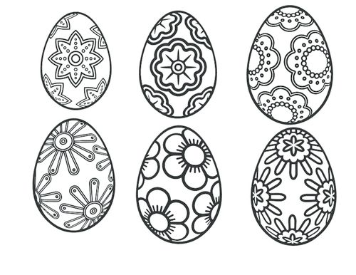 428 best easter printables images on pinterest | easter crafts ... - Easter Egg Coloring Page Template