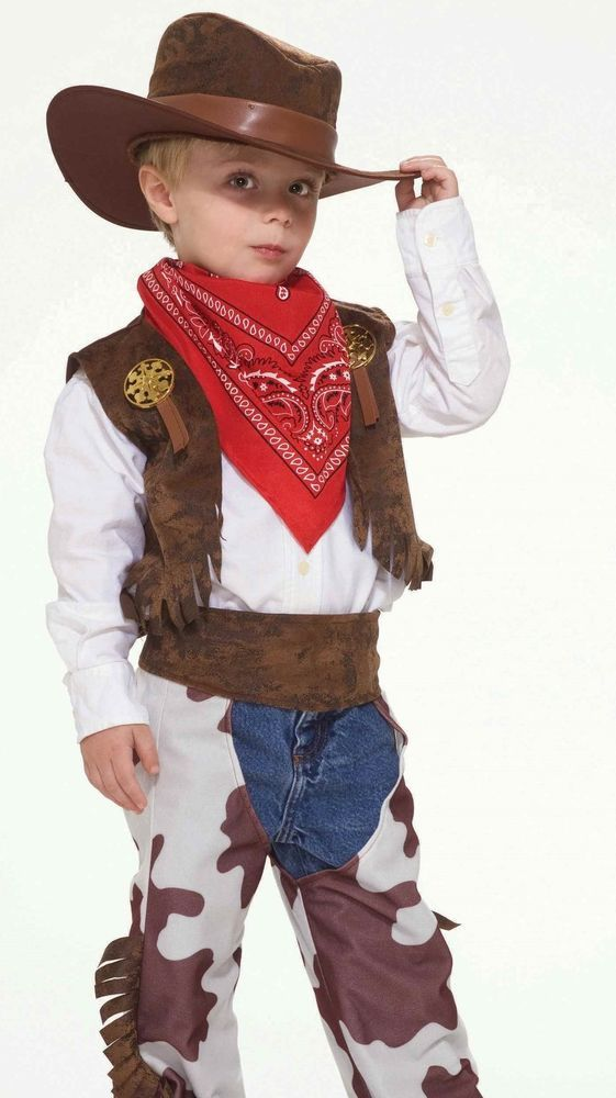 Boys Childs Toddler COWBOY KID Rodeo Western Sheriff Costume * TODDLER * Cow boy