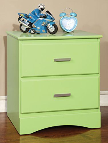 Transitional style inspired 2 Drawers on center metal glides Finished in Green; Available in a variety of colors