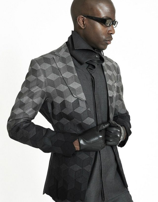 Traditional Suits Get A Futuristic, Geometric Makeover From Ichiro Suzuki | The Creators Project