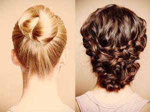 Lange Haare hochstecken
