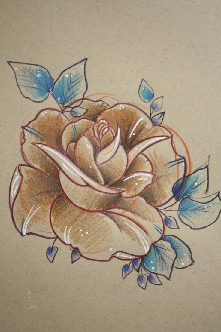 rose sketch. charlotte ross.