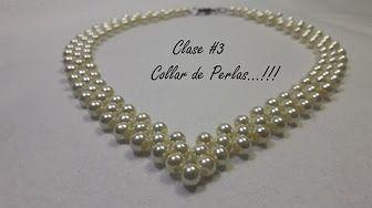 Como hacer un Collar de Perlas y Argollas : Pekas Creaciones - YouTube