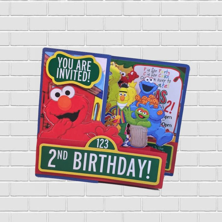 Excited to share the latest addition to my #etsy shop: Sesame Street Elmo Tri-Fold Invitation with Pop Up Characters Custom Designed. http://etsy.me/2DBqwMM #papergoods #sesamestreet #babyshower #birthday #partysupplies #caketoppers #inkspire #babygirl #babyboy