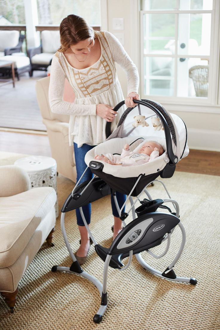 Amazon.com : Graco Glider Elite Baby Swing, Pierce : Baby