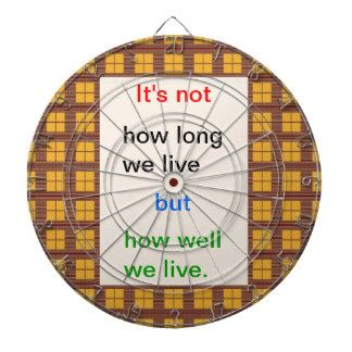 Introspection Wisdom : How well we lived ?? Dart Board