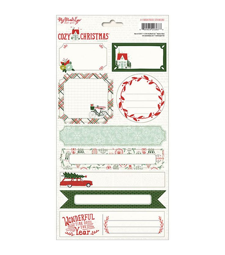 My Mind's Eye™ Cozy Christmas Stickers-Labels
