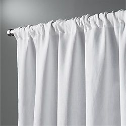 "white linen curtain panel 48""x84"""