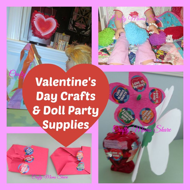 Crafty Moms Share: Valentine's Gifts and Doll Party Supplies