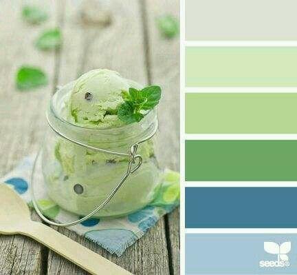 Harmonie vert glace a la pistache I Design I Couleur I Inspiration I Camaïeu I Peinture I
