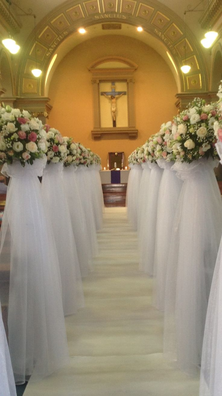 Wedding Ceremony Decorations Adelaide : Church pew decorations ceremony pews fresh flowers