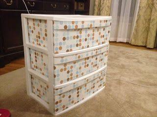 dress up a simple plastic drawer set